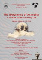 The Experience of Animality in Culture, Science and Daily Life, plakat